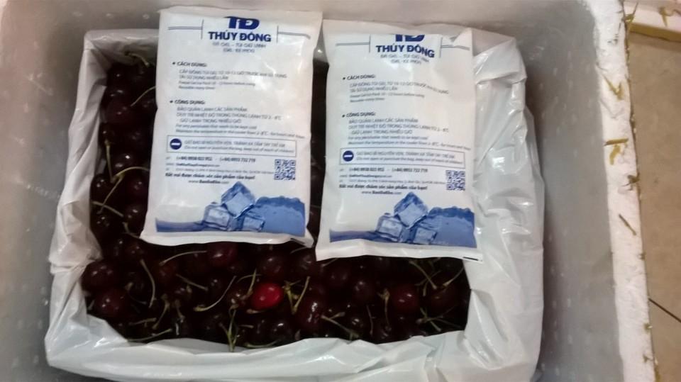 bảo quản cherry bằng đá gel